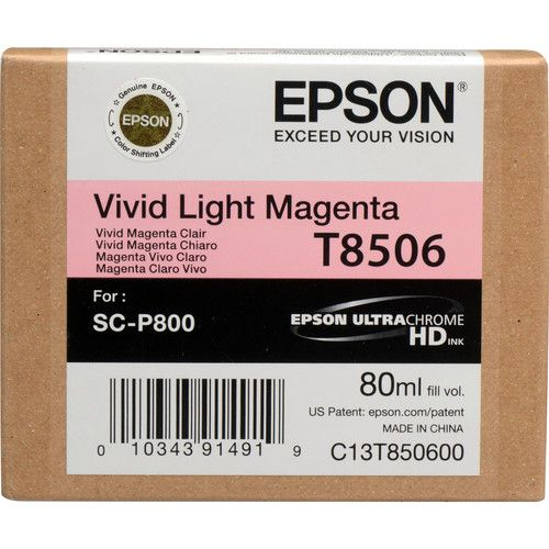 Cartucho de Tinta Epson T850 ULTRACHROME HD (80mL) para Impressora SureColor P-800