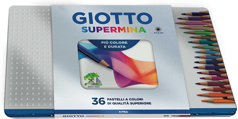 Estojo de lápis de cor Giotto Supermina Lata