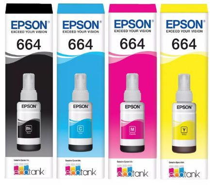 Refil de tinta Epson Ecotank T664 (70ml) Original