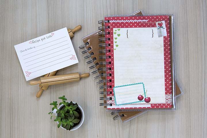 Agenda pronta para decorar