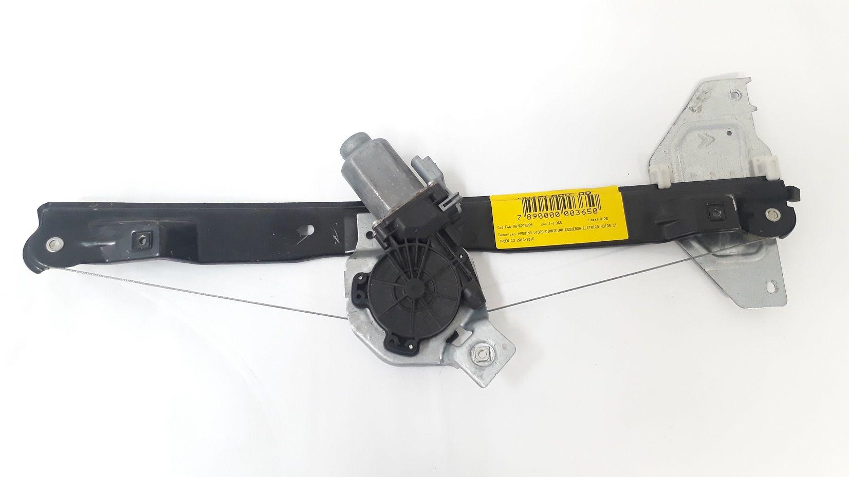 Maquina Vidro Dianteira Esquerda Eletrica Motor Citroen C3 2013-2016