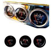 Kit Manômetro 3 relógios Voltímetro Óleo E Temp. Água Universal