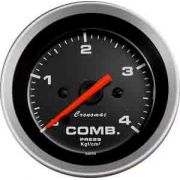 Manômetro Pressão Combustível 52mm Cronomac  Sport  0 - 4kg
