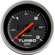 Manômetro Pressão Turbo  52mm Cronomac  Sport  3 kg