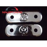 Par Espelhos p/ Maçaneta de Fusca Interno c/ Logo VW ( 02 pçs )