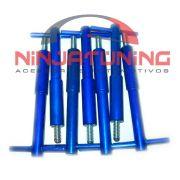 Wing Nuts p/ Tampa Valvulas Opala 4 e 6 Cilindros ( Kit com 07 pçs ) - AZUL