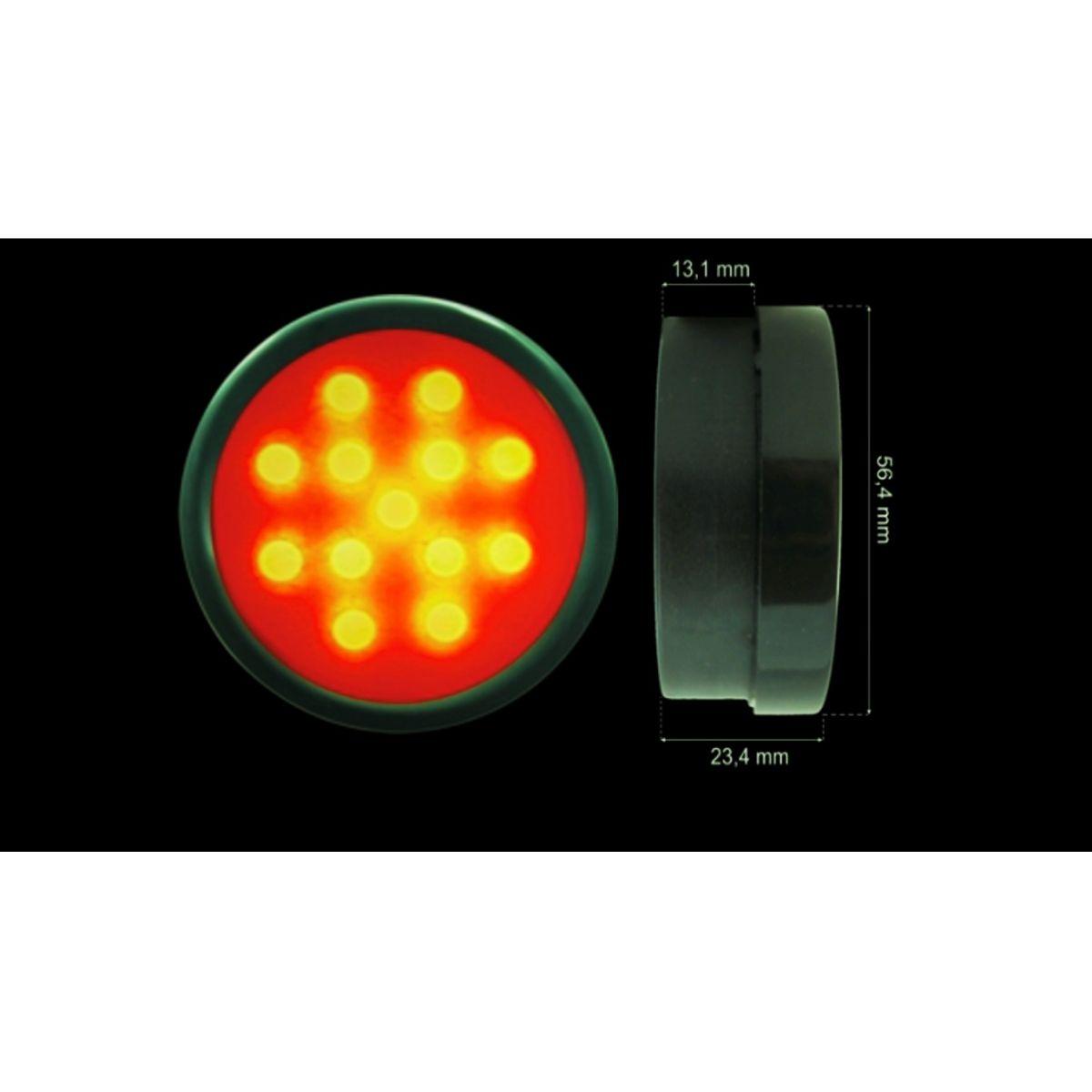Canhão de Leds  Shifth Light  52mm Vermelho Racetronix