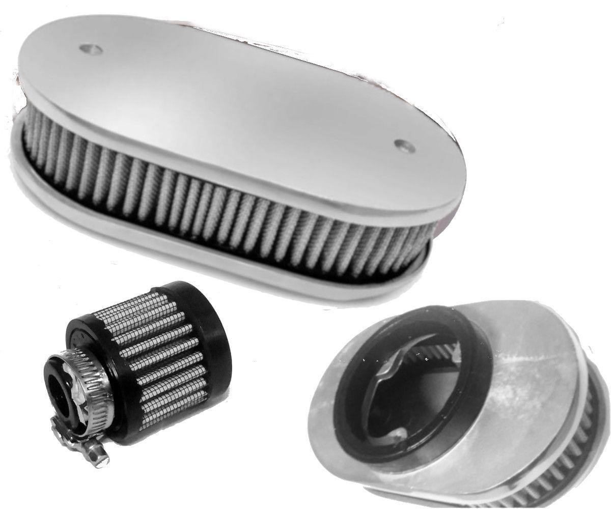Filtro de Ar Esportivo p/ carburador 2E/3E - VW + anel de Vedação e Respiro