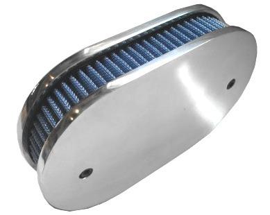 Filtro de ar Oval Marmita p/ Carburador S/L - WEBER 40/44
