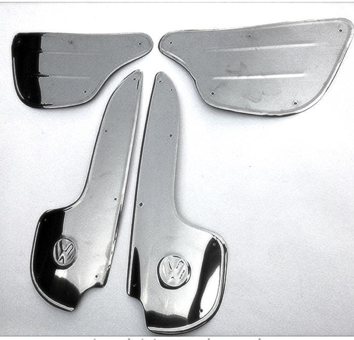 Kit Polainas para Fusca - Modelo americano em Inox ( Kit 4 pçs )