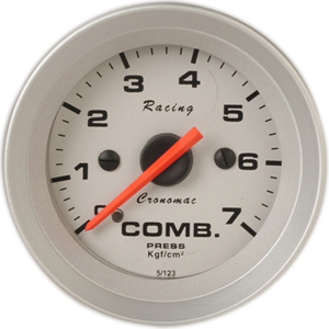 Manômetro Pressão Combustível 52mm Cronomac  Racing  0 - 7 kg