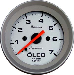 Manômetro Pressão Óleo Cronomac 52mm 0 -7 kg Racing