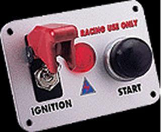 Painel c/ Start Buton e Chave Caça + led indicador Auto Gauge