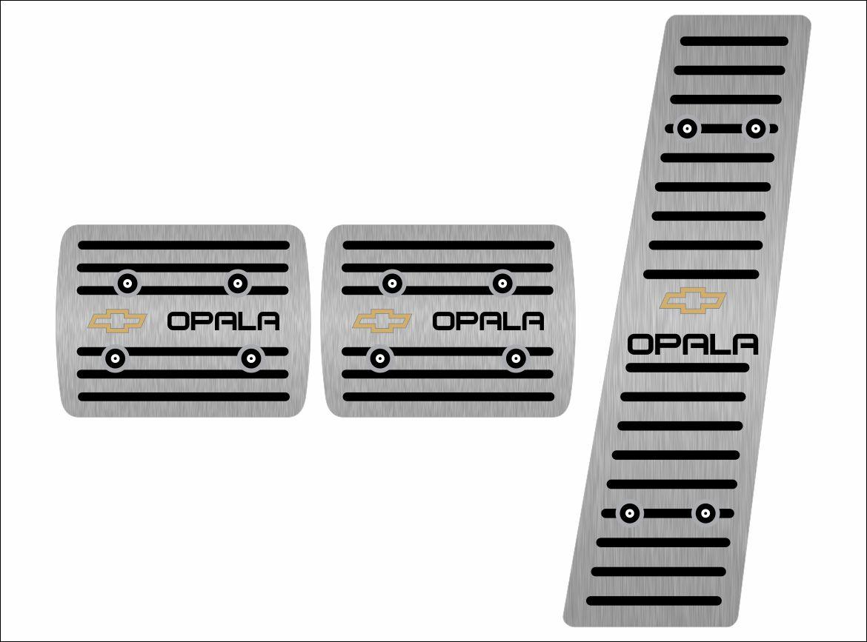 Pedaleira para Opala em Aço Inox Escovado