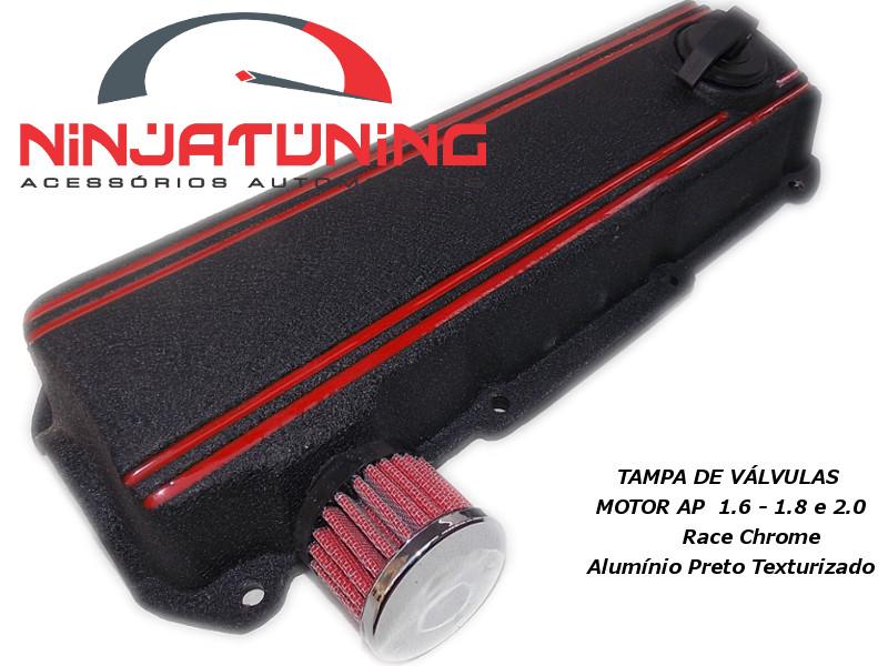 Tampa de Válvulas para Motor AP - 1.6 , 1.8 e 2.0 - preto /vermelho