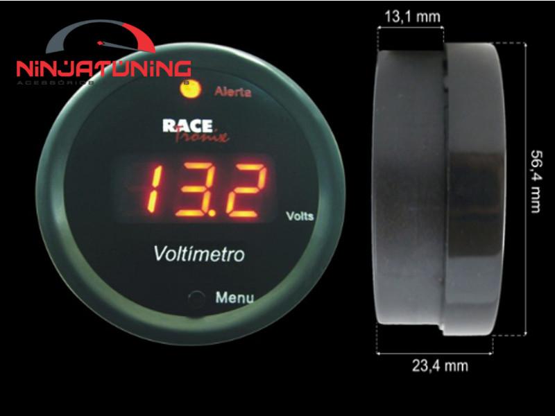 Voltímetro Digital Programável Racetronix