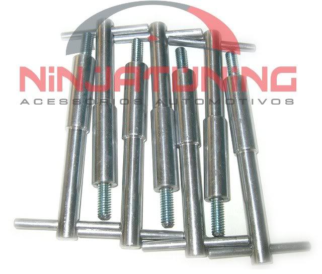 Wing Nuts p/ Tampa Valvulas Opala 4 e 6 Cilindros ( Kit com 07 pçs ) - POLIDO ALUMINIO