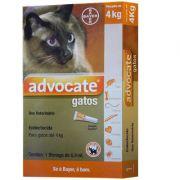 Antipulgas Bayer Advocate para Gatos até 4 Kg - 0,4 mL (1 Bisnaga)