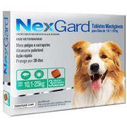 Antipulgas e Carrapatos Merial NexGard 68 mg para Cães de 10,1 a 25 Kg (3 comprimidos)
