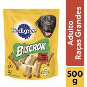 Biscoito Pedigree Biscrok Maxi para Cães Adultos de Raças Grandes 500gr