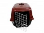 Caixa Plástica de Transporte com Grade de Ferro n.1 Cor Vermelha