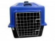 Caixa Plástica de Transporte com Grade de Ferro n.4 Cor Azul e cinza