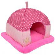 Cama Tenda para cachorro Super Luxo MR 52x50x40cm Cor Rosa