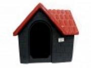 Casa Plástica Bangalô N.1 Vermelha e Cinza