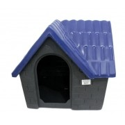 Casa Plástica Bangalô N.2 Azul e Cinza