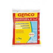 Cloro Genco Granulado L.E multiplaação 3x1para piscinas 1kg