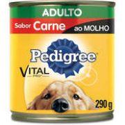 Lata Pedigree Carne ao Molho para Cães Adultos - 290 g