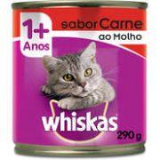 Lata Whiskas Carne ao Molho para Gatos Adultos - 290 g