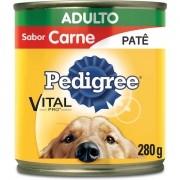 Pedigree Lata Patê de Carne para Cães Adultos - 280 g