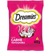 Petisco Dreamies Carne Para Gatos Adultos 40g