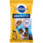 Petisco Pedigree Dentastix Cuidado Oral Para Cães Adultos Raças Médias 7 unidades