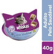 Petisco Whiskas Temptations Pelo Saudável para Gatos Adultos - 40 g