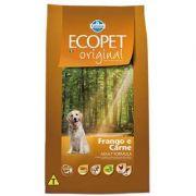 Ração Farmina Ecopet Original Carne e Frango para Cães Adultos 15k
