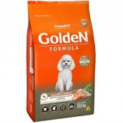Ração Golden Formula Mini Bits Salmão e Arroz para Cães Adultos de Raças Pequenas 10K