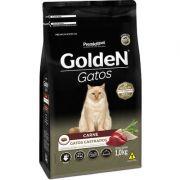 Ração Golden Gatos Adultos Castrados Carne 1k