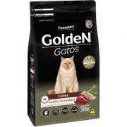 Ração Golden Gatos Adultos Castrados Carne 3k