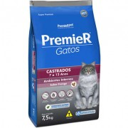 Ração Premier Ambientes Internos Gatos Castrados 7 a 12 anos - 7,5k