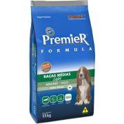 Ração Premier formula Raças Medias Cães adultos Light 15 K