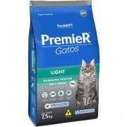 Ração Premier  Gatos Ambientes Internos Light Adultos Salmão - 1,5k