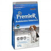 Ração Premier Pet Ambientes Internos Cães Adultos Light 2.5K