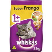 Ração Seca para Gatos WHISKAS® Adulto Sabor Frango 3kg