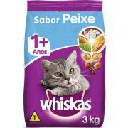 Ração Seca para Gatos WHISKAS® Adulto Sabor Peixe 3kg
