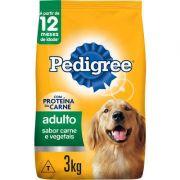 Ração Seca Pedigree Carne e Vegetais para Cães Adultos Raças Médias e Grandes 3K