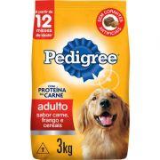 Ração Seca Pedigree Carne, Frango e Cereais para Cães Adultos Raças Médias e Grandes 3k