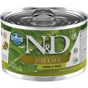 Ração Úmida Lata Farmina N&D Prime Grain Javali & Maça para Cães Adultos 140g