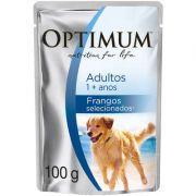 Ração Úmida Optimum Sachê para Cães Adultos Frango 100g